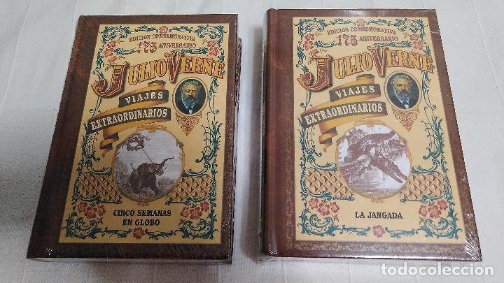 Libros de segunda mano: COLECCIÓN VIAJES EXTRAORDINARIOS - JULIO VERNE - 8 LIBROS ¡NUEVOS! - Foto 4 - 103723359