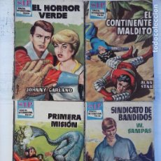 Libros de segunda mano: SIP - S.I.P. SPACIAL INTERNATIONAL POLICE 4 NOVELAS - 3,19,22,25, ALAN STAR, W.SAMPAS. Lote 103929283