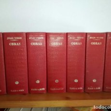 Libros de segunda mano: OBRAS COMPLETAS JULIO VERNE, 7 TOMOS PLAZA & JANES. Lote 104000071