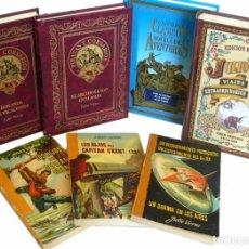 Libros de segunda mano: JULIO VERNE - LOTE DE 7 LIBROS - NOVELAS - VIAJE AL CENTRO DE LA TIERRA, CINCO SEMANAS EN GLOBO. Lote 104075643