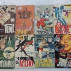 Libros de segunda mano: COLECCION ESPACIO EXTRA TORAY 1961 LOTE - NºS - 2,3,4,7,8,14,15,17,CLARK CARRADOS, LOUIS G. MILK,. Lote 104913887
