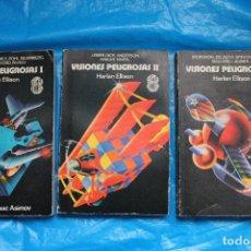 Libros de segunda mano: VISIONES PELIGROSAS I, II Y III POR HARLAN ELLISON, COLECCION SUPER FICCION, NºS 82,83 Y 84, EDI ROC. Lote 106591915