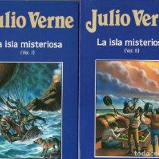 Libros de segunda mano: LA ISLA MISTERIOSA (JULIO VERNE) 3 TOMOS. Lote 121873486