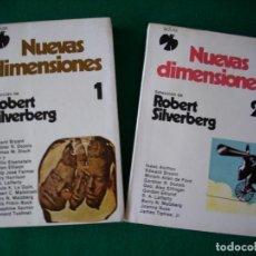 Libros de segunda mano: NUEVAS DIMENSIONES 1 Y 2 - ROBERT SILVERBERG - COLECCIÓN FÉNIX - ADIAX S.A. AÑO 1982. Lote 109499939