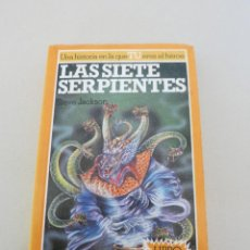 Libros de segunda mano: LIBRO JUEGO ALTEA JUNIOR LAS SIETE SERPIENTES BRUJOS Y GUERREROS NUMERO 3 STEVE JACKSON. Lote 110092867