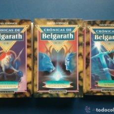Libros de segunda mano: CRÓNICAS DE BELGARATH - DAVID EDDINGS 3 TOMOS I-II, III-IV Y V - OBRA COMPLETA - 1996. Lote 110965479