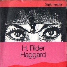 Libros de segunda mano: RIDER HAGGARD : AYESHA (SIGLO VEINTE, 1975). Lote 111177643