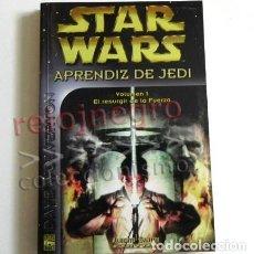 Libros de segunda mano: STAR WARS APRENDIZ DE JEDI EL RESURGIR DE LA FUERZA VOL 1 - LIBRO DAVE WOLVERTON GUERRA LAS GALAXIAS. Lote 111331191