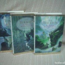 Libros de segunda mano: J.R.R. TOLKIEN: EL SEÑOR DE LOS ANILLOS 3 TOMOS (COMPLETA) - MINOTAURO,2002 PRIMERA EDICIÓN. Lote 111959279