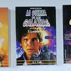 Libros de segunda mano: NOVELA STAR WARS: TILOGIA HAN SOLO (TRAMPA PARAISO, MANIOBRA HUTT, AMANECER REBELDE) - MARTINEZ ROCA. Lote 112576731