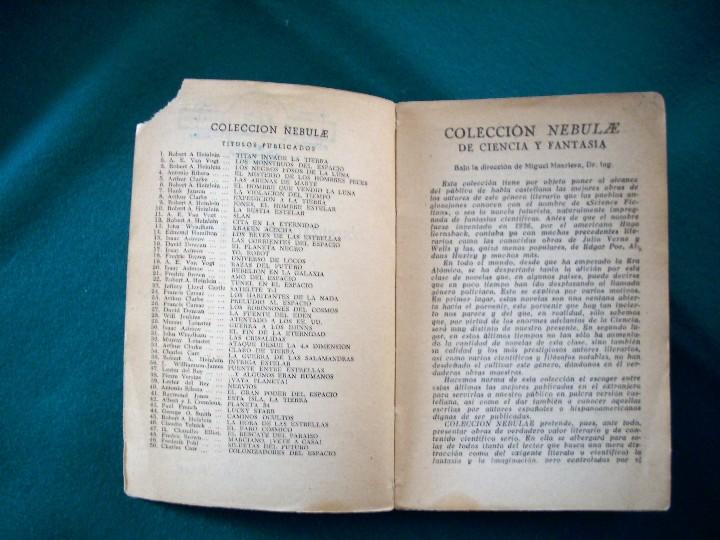 Libros de segunda mano: COLONIZADORES DEL ESPACIO - CHARLES CARR - NEBULAE - Nº50 -AÑO 1958 - E.D.H.A.S.A. - Foto 5 - 118954604
