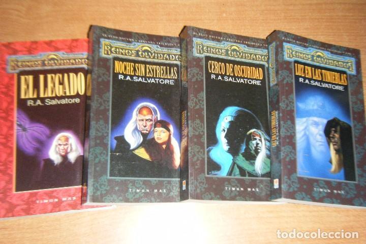 EL LEGADO DEL DROW COMPLETA, REINOS OLVIDADOS TIMUN MAS EN RUSTICA ELFO OSCURO (Libros de Segunda Mano (posteriores a 1936) - Literatura - Narrativa - Ciencia Ficción y Fantasía)
