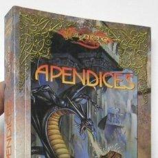 Libros de segunda mano: DRAGONLANCE. APÉNDICES - MARGARET WEIS, TRACY HICKMAN. Lote 114611327