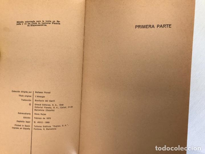 Libros de segunda mano: El extranjero. Albert Camus. 1ª edición. Planeta - Foto 2 - 115207207