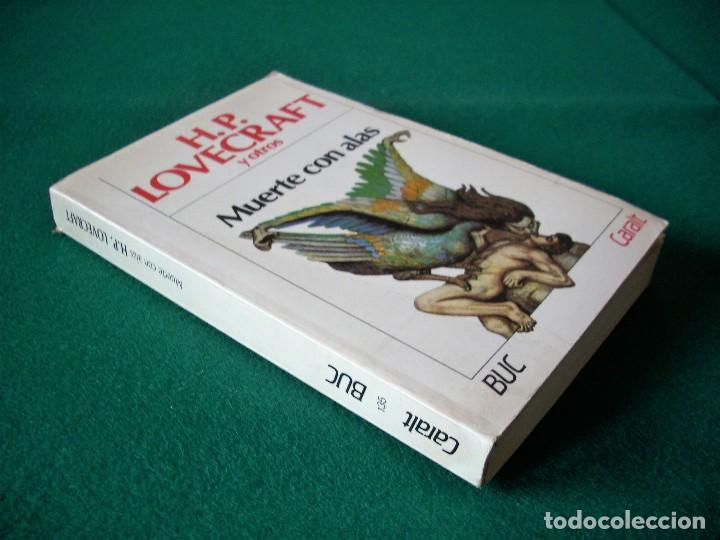 Libros de segunda mano: MUERTE CON ALAS - H.P. LOVECRAFT Y OTROS - 3ª EDICIÓN 1985 - CARALT - BUC - Foto 2 - 115469011