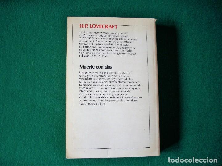 Libros de segunda mano: MUERTE CON ALAS - H.P. LOVECRAFT Y OTROS - 3ª EDICIÓN 1985 - CARALT - BUC - Foto 3 - 115469011