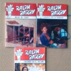 Libros de segunda mano: RALP BARBY 8 NOVELAS ESPUELAS 9-OESTE 5 7 9-PISTOLEROS 9-BÚFALO 1655-BISONTE ROJA 6 SALOON1884 NUEVO. Lote 115547659