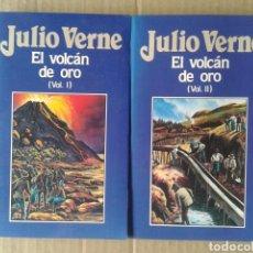 Libros de segunda mano: EL VOLCÁN DE ORO, VOLÚMENES 1 Y 2, DE JULIO VERNE. EDICIONES ORBIS NÚMEROS 86 Y 87.. Lote 160611512