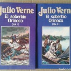 Libros de segunda mano: EL SOBERBIO ORINOCO, VOLÚMENES 1 Y 2, DE JULIO VERNE. EDICIONES ORBIS NÚMEROS 70 Y 71.. Lote 116426928