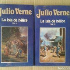Libros de segunda mano: LA ISLA DE HÉLICE, VOLÚMENES 1 Y 2, DE JULIO VERNE. EDICIONES ORBIS NÚMEROS 23 Y 24. FORRADOS.. Lote 116427472