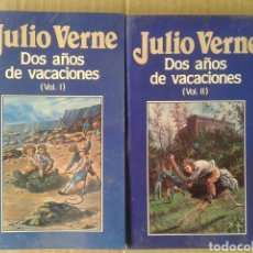 Libros de segunda mano: DOS AÑOS DE VACACIONES, VOLÚMENES 1 Y 2, DE JULIO VERNE. EDICIONES ORBIS NÚMEROS 58 Y 59. FORRADOS.. Lote 116427768