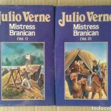 Libros de segunda mano: MISTRESS BRANICAN, VOLÚMENES 1 Y 2, DE JULIO VERNE. EDICIONES ORBIS NÚMEROS 68 Y 69. FORRADOS.. Lote 116429175