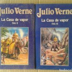 Libros de segunda mano: LA CASA DE VAPOR, VOLÚMENES 1 Y 2, DE JULIO VERNE. EDICIONES ORBIS NÚMEROS 48 Y 49. FORRADOS.. Lote 116429731