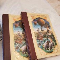 Libros de segunda mano: LA ISLA MISTERIOSA 2 Y 3 JULIO VERNE. DIBUJOS DE LA EDICIÓN ORIGINAL FRANCESA.MUY BUENA ENCUADERNACI. Lote 117066180