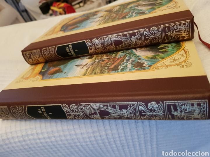 Libros de segunda mano: La Isla Misteriosa 2 y 3 Julio Verne. Dibujos de la edición original francesa.Muy buena encuadernaci - Foto 2 - 117066180