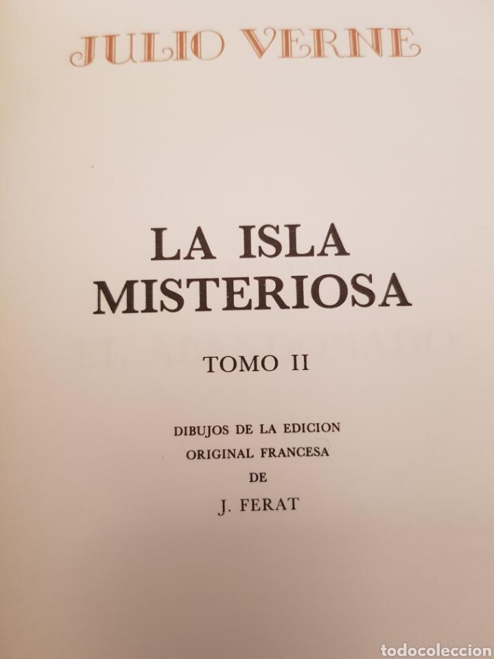 Libros de segunda mano: La Isla Misteriosa 2 y 3 Julio Verne. Dibujos de la edición original francesa.Muy buena encuadernaci - Foto 4 - 117066180