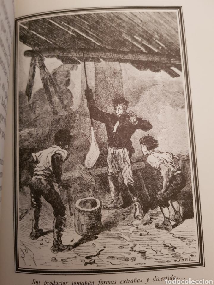 Libros de segunda mano: La Isla Misteriosa 2 y 3 Julio Verne. Dibujos de la edición original francesa.Muy buena encuadernaci - Foto 6 - 117066180
