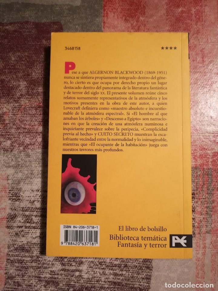 Libros de segunda mano: Culto secreto y otros relatos - Algernon Blackwood - Foto 2 - 117847215