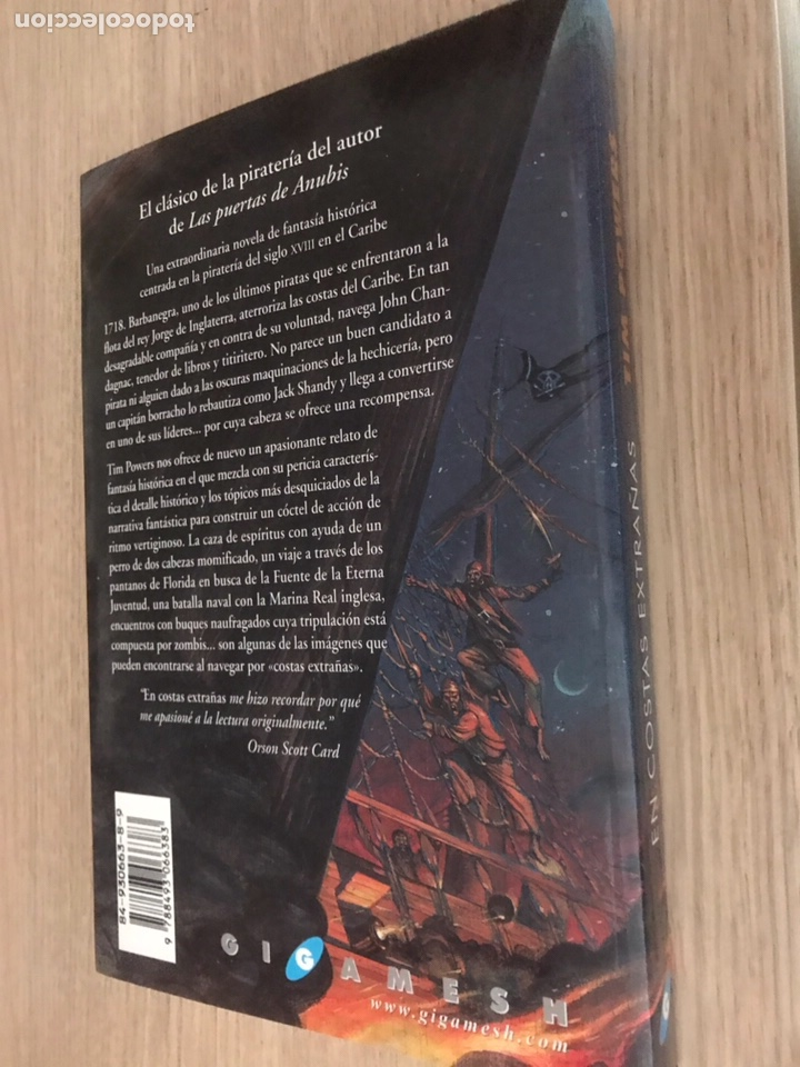 Libros de segunda mano: TIM POWERS EN COSTAS EXTRAÑAS. 1ª EDICIÓN. 2001. GIGAMESH. - Foto 3 - 121121660