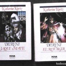 Libros de segunda mano: KATHERINE KURTZ. DERYNI: JAQUE MATE Y EL RESURGIR. 1ª EDICIÒN, MARZO Y MAYO 1991. NOVA. CARTONÉ.. Lote 122445283