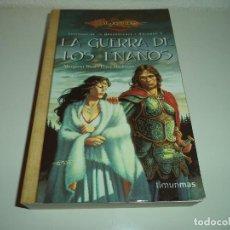 Libros de segunda mano: LA GUERRA DE LOS ENANOS.VOL.Nº1 LEYENDAS DRAGONLANCE. TIMUN MAS. Lote 122787783