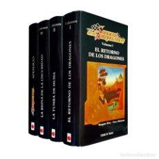 Libros de segunda mano: CRÓNICAS DE LA DRAGONLANCE (TRILOGIA COMPLETA + EL APÉNDICES) TIMUN MAS TSR 86 - 90 WEIS & HICKMAN. Lote 121977579