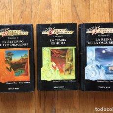 Libros de segunda mano: CRONICAS DE LA DRAGONLANCE, 3 VOLUMENES TIMUN MAS. Lote 125209331