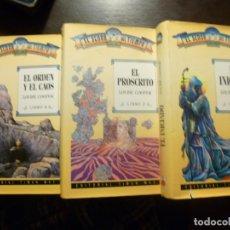 Libros de segunda mano: LOTE DE 3 LIBROS EL SEÑOR DEL TIEMPO LOUISE COOPER EDITORIAL TIMUN MAS. Lote 125285235