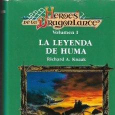 Libros de segunda mano: HEROES DE LA DRAGONLANCE - VOL. I - LA LEYENDA DE HUMA - RICHARD A. KNAAK - TIMUN MAS, 1ª ED.1995.. Lote 125666863