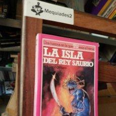 Libros de segunda mano: ALTEA JUNIOR: LUCHA FICCIÓN Nº 7 : LA ISLA DEL REY SAURIO (LIBROJUEGO). Lote 128922427