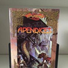 Libros de segunda mano: ¡¡¡DRAGONLANCE. LIBRO APÉNDICES. MARGARET WEIS Y TRACY HICKMAN. TIMUN MAS. AÑO 2004!!!. Lote 128962563