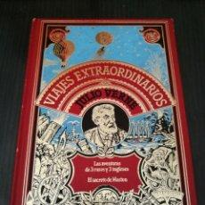 Libros de segunda mano: JULIO VERNE LAS AVENTURAS DE 3 RUSOS Y 3 INGLESES / EL SECRETO DE MASTON - VIAJES EXTRAORDINARIOS. Lote 129678539