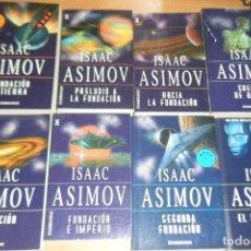 Libros de segunda mano: LOTE 8 LIBROS ISAAC ASIMOV FUNDACION, SUEÑOS DE ROBOT, EL SOL DESNUDO DEBOLSILLO EN RUSTICA. Lote 130765848