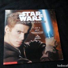 Libros de segunda mano: STAR WARS ATTACK OF THE CLONES I AM A JEDI APPRENTICE 2002, LUCASFILM.. Lote 130822300