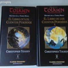 Livres d'occasion: EL LIBRO DE LOS CUENTOS PERDIDOS ( 2 TOMOS ) TOLKIEN ( PLANETA DEAGOSTINI ). Lote 208043182