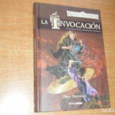 Libros de segunda mano: LA INVOCACION, EL RETORNO DE LOS ARCHIMAGOS VOL. 1 REINOS OLVIDADOS TIMUN MAS TAPA DURA. Lote 131074612
