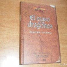 Libros de segunda mano: EL OCASO DE LOS DRAGONES COMPLETA DRAGONLANCE TIMUN MAS COLECCIONISTAS TAPA DURA. Lote 131075916