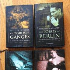 Libros de segunda mano: PHILIPPE CAVALIER, EL SIGLO DE LAS QUIMERAS 4 LIBROS. Lote 132485422