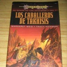 Libros de segunda mano: LOS CABALLEROS DE TAKHISIS - EL OCASO DE LOS DRAGONES 1 (M. WEIS - T. HICKMAN) DRAGONLANCE . Lote 133671670