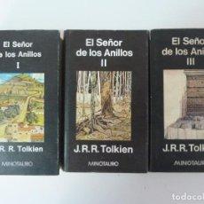 Libros de segunda mano: EL SEÑOR DE LOS ANILLOS. 3 TOMOS. TOLKIEN. MINOTAURO 1979/80. Lote 133891314